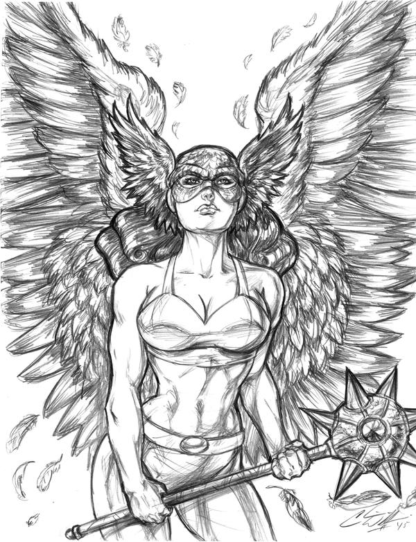 Golden Age Hawkgirl by CdubbArt