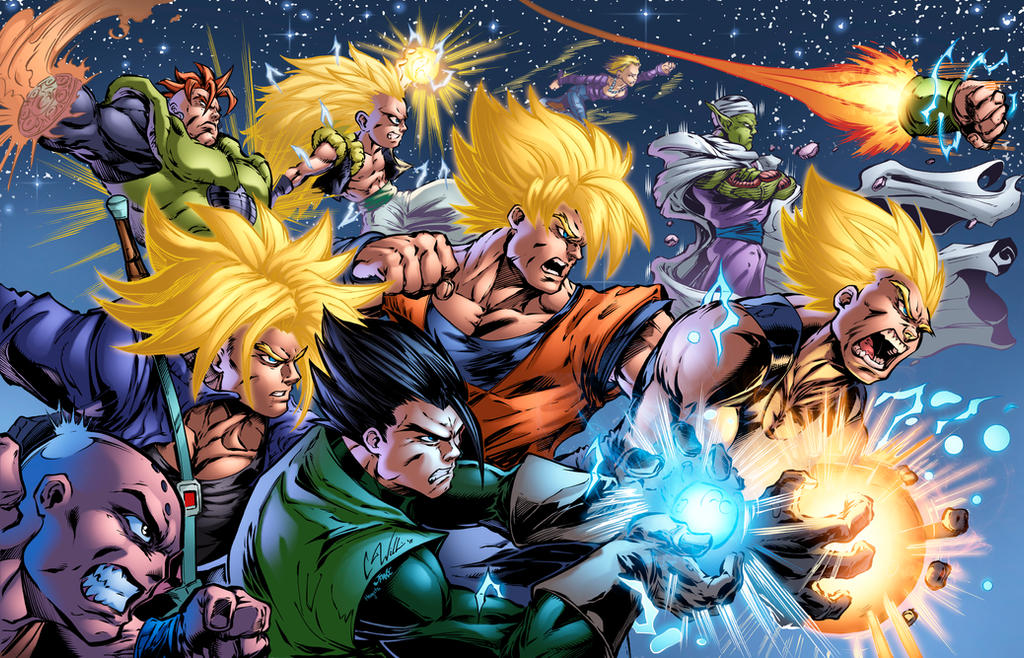 DBZ Warriors Colored by CdubbArt