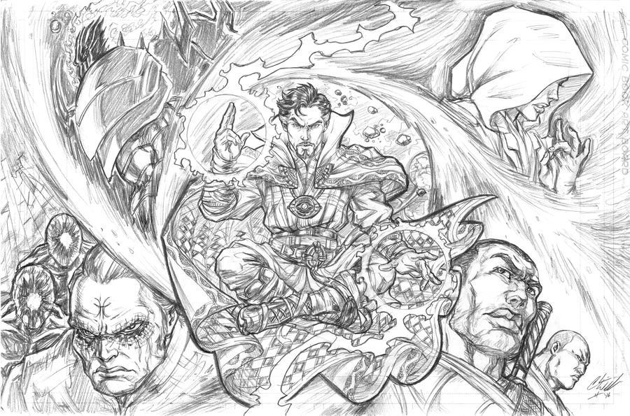 Doctor Strange pncls by CdubbArt