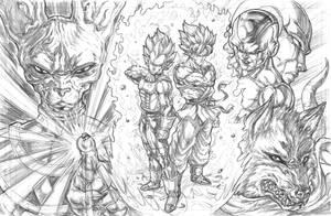Dragon Ball Super: Saiyan Rivals by CdubbArt