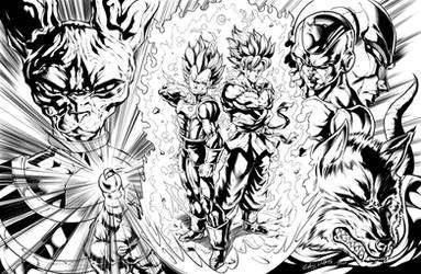 Dragon Ball Super: Saiyan Rivals (Inks) by CdubbArt