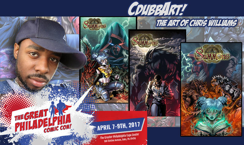 Cdubbart At Great Philly Comic Con 2017 by CdubbArt