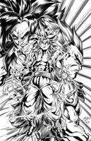 Gogeta fusion inks by CdubbArt