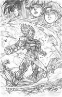 Vegeta's Final Atonement by CdubbArt