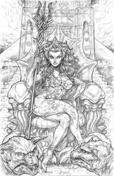 Ghostbusters: Queen Mera by CdubbArt