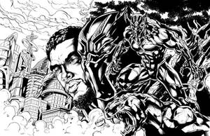 Black Panther: Wakandan Warrior Inks by CdubbArt