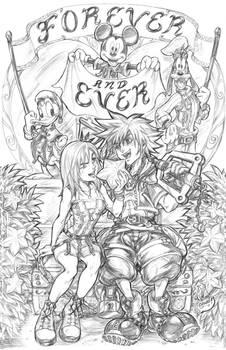 Kingdom Hearts Engagement Pinup