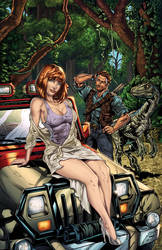 Jurassic World Pinup: Jeep in the Jungle