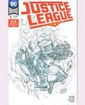 Zatanna/JL sketch cover (Spidey No.300 Homage)