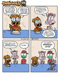 Panimals Strip 1: Resolutions by CdubbArt
