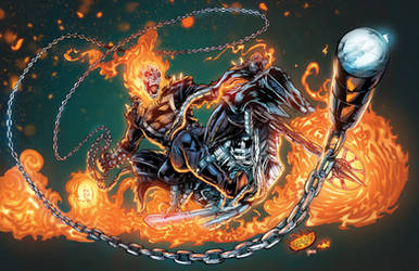 Ghost Rider: Danny Blaze Colors by CdubbArt