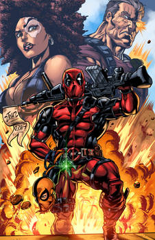 Deadpool 2 pinup Colors