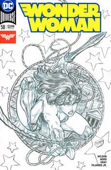 Wonder Woman sketch cover (Spidey No.300 Homage)