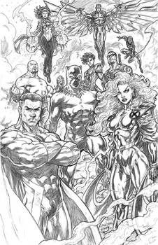 Avengers (New lineup) Sketch For Sale!