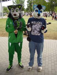 Two cute furry