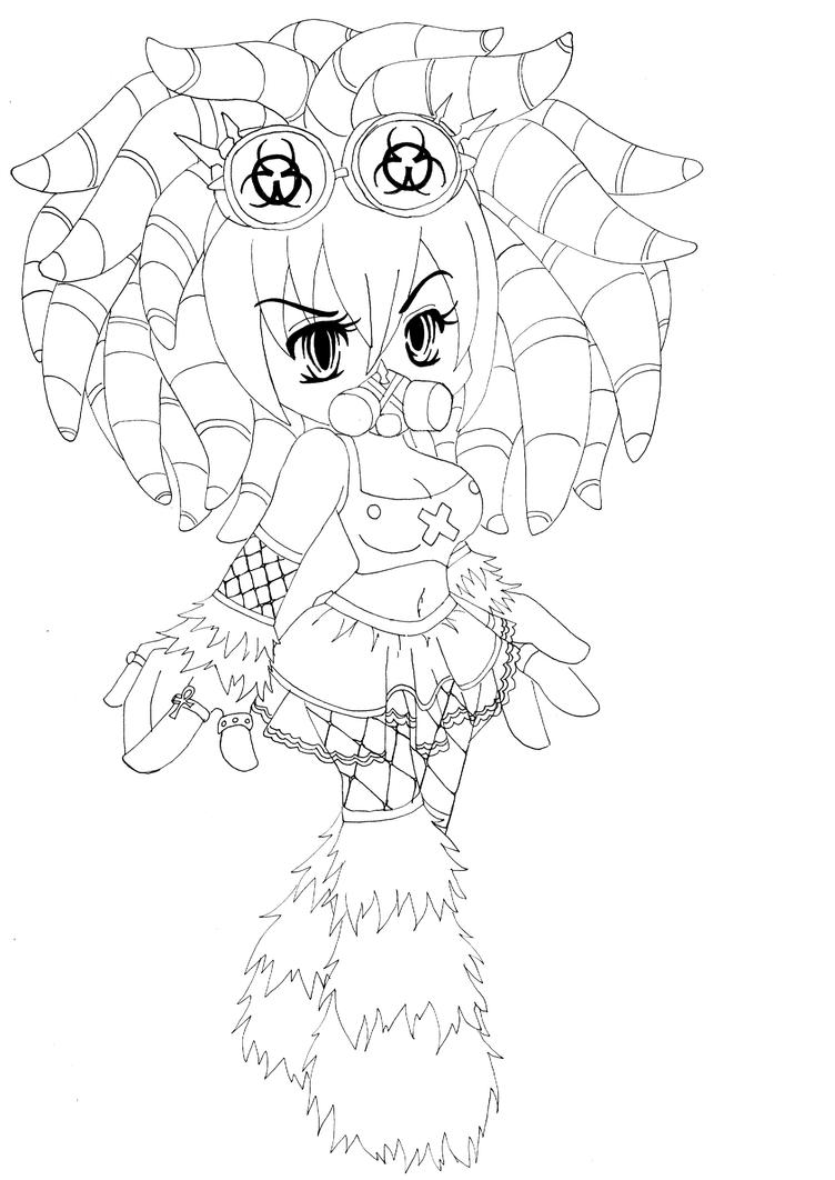 goth coloring pages - cyber goth by the666jackal on deviantart