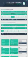 Freebie: 3 in 1 User Interface Elements Kit Part 1