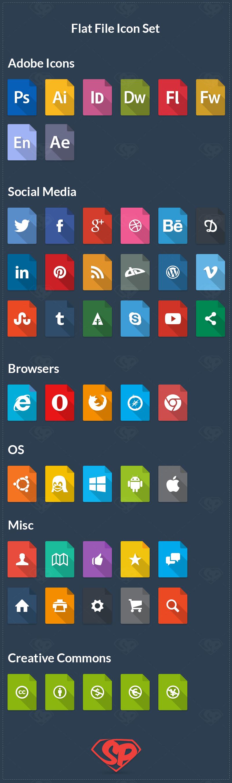 Flat File Icon Set