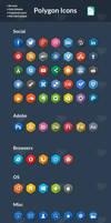 85 Hexagonal Icons