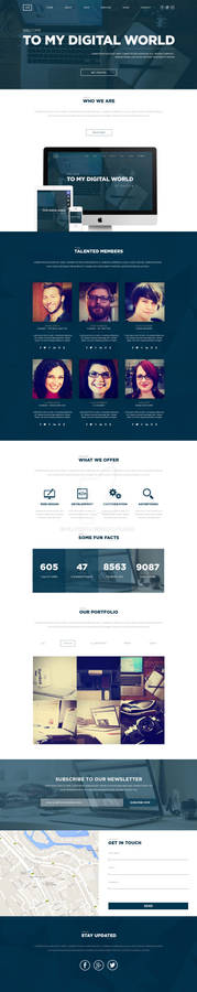 One Page Multipurpose Template