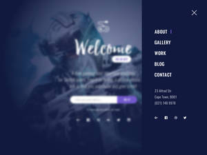 Subscribe Landing Page - offcanvas menu