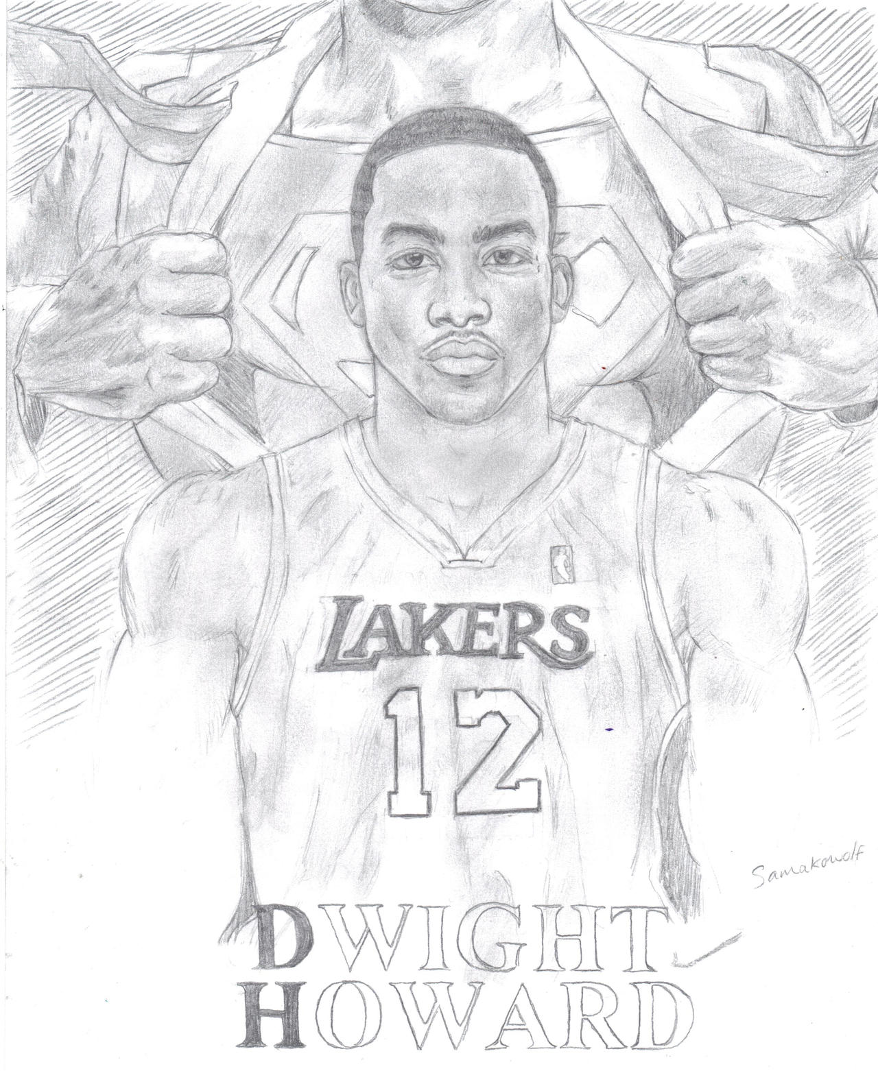Dwight Howard: Superman by samakowolf
