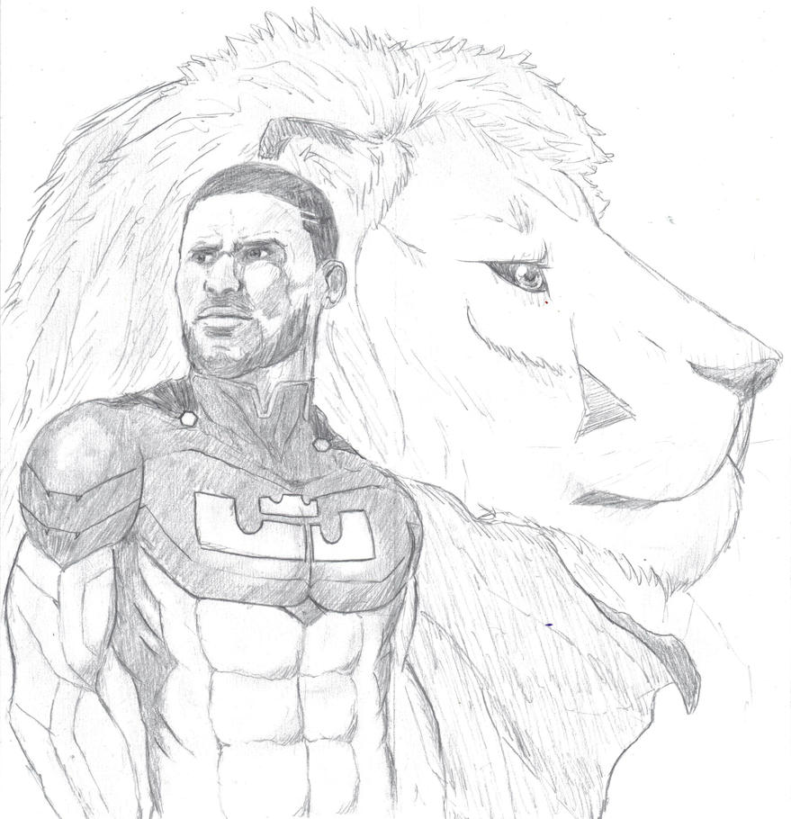 Lebron james as a superhero by samakowolf on deviantart for Lebron james coloring pages