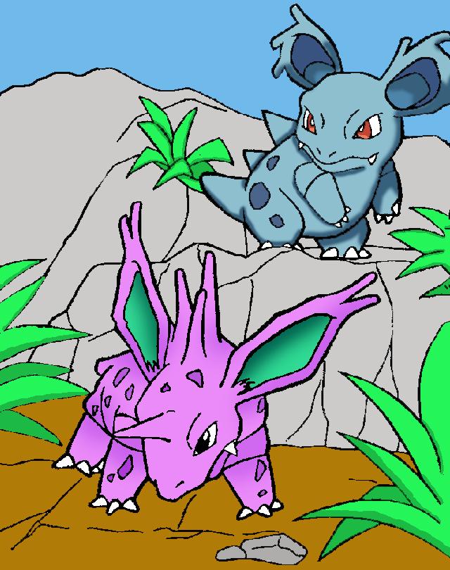 Pokemon Nidorino Nidorino and nidorina by