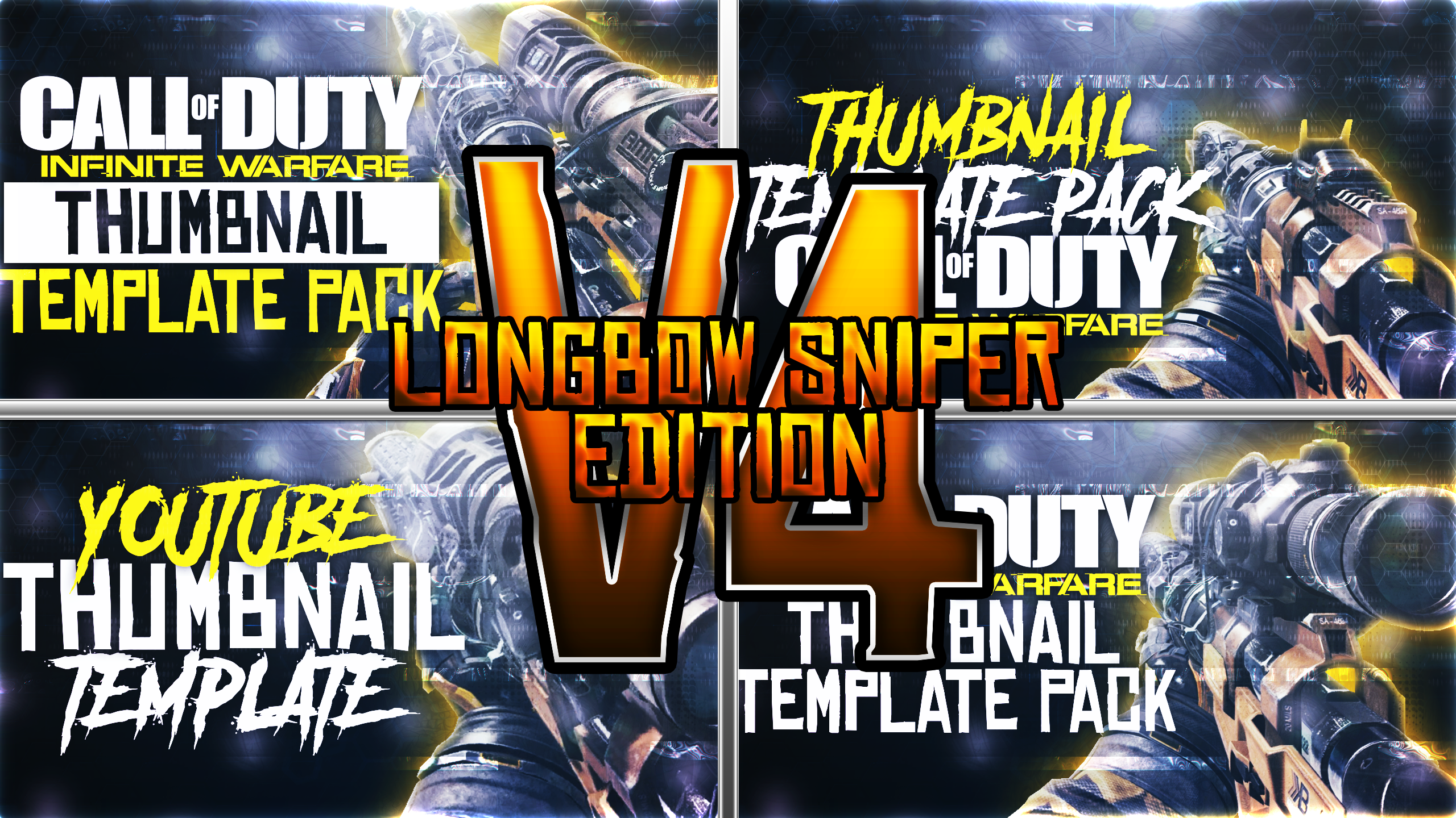 Kbs Longbow Youtube Thumbnail Template Cod Iw By Acezproduction On Deviantart