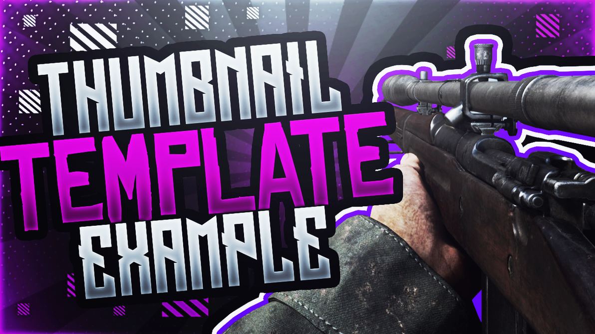Poshop Thumbnail Template | Wwii Sniper Rilfe Photoshop Thumbnail Template By Acezproduction On