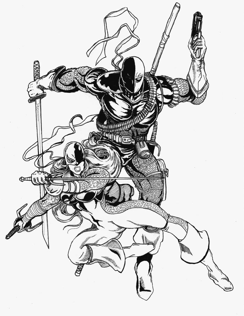 Dc villain deathstroke coloring pages coloring pages for Deathstroke coloring pages