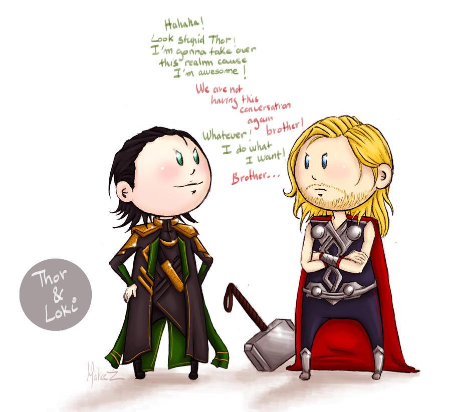 Thor and Loki by ukialek