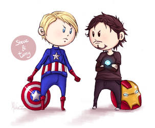 Steve and Tony by ukialek