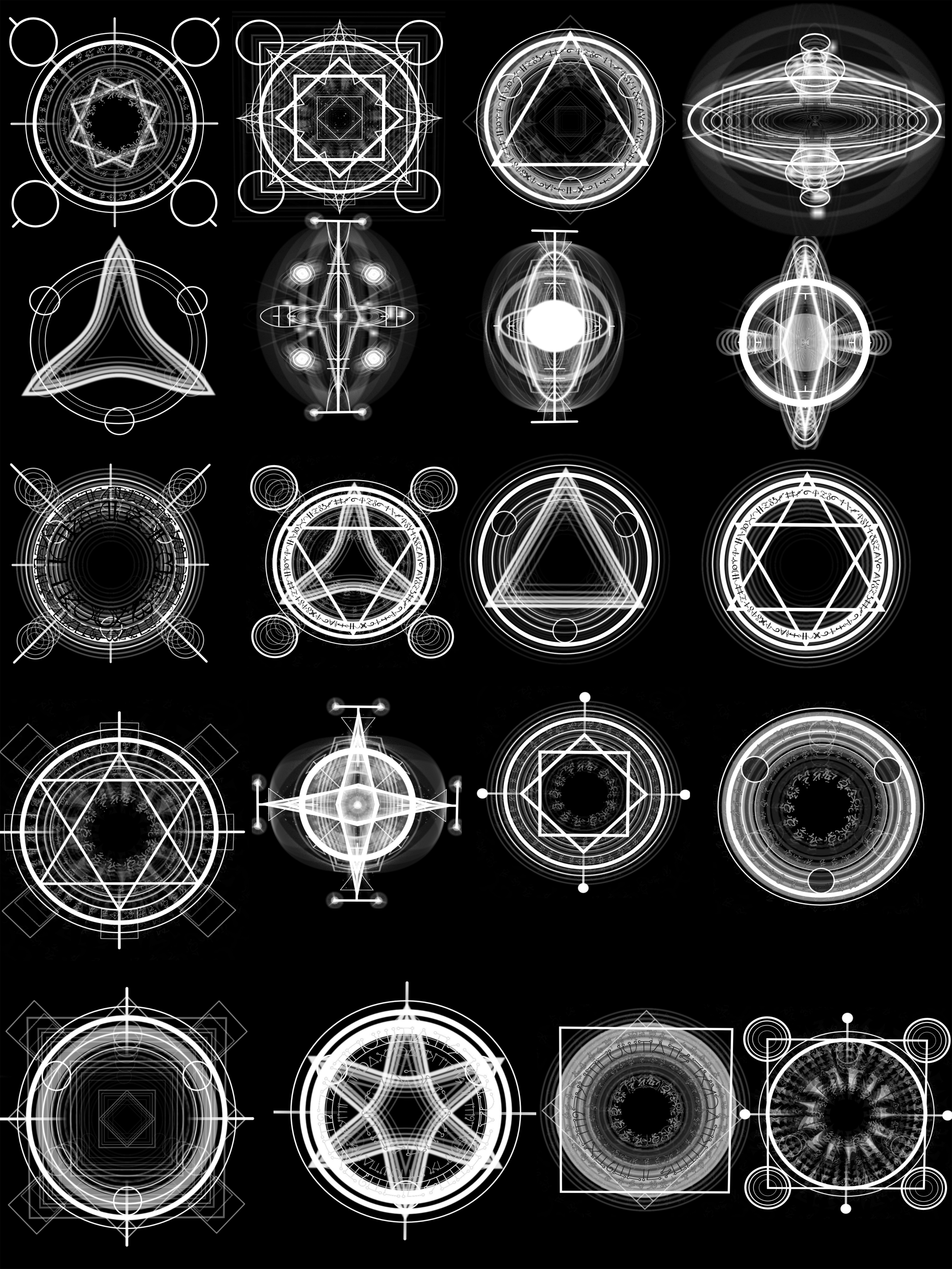 Alchemy Magic Circles High Res by Psycho--Princess