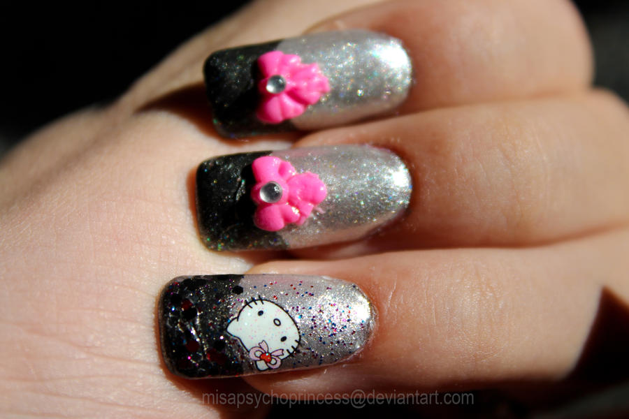 Hello Kitty 3d Ribbon Nail Art Design By Psycho Princess On Deviantart