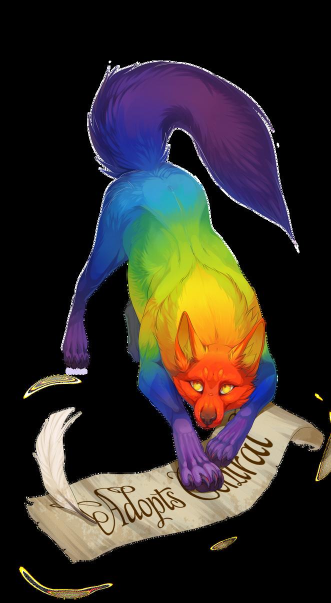 RAINBOW DOG by arucarrd
