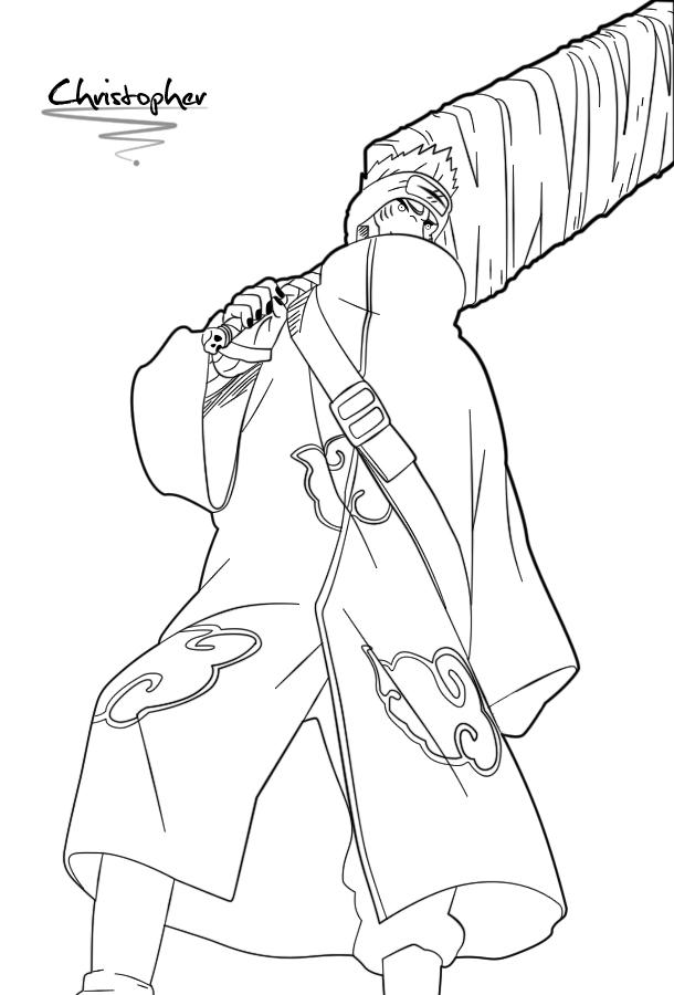 Names Of Line Drawing Artists : Kisame line art by chrisdoebber on deviantart