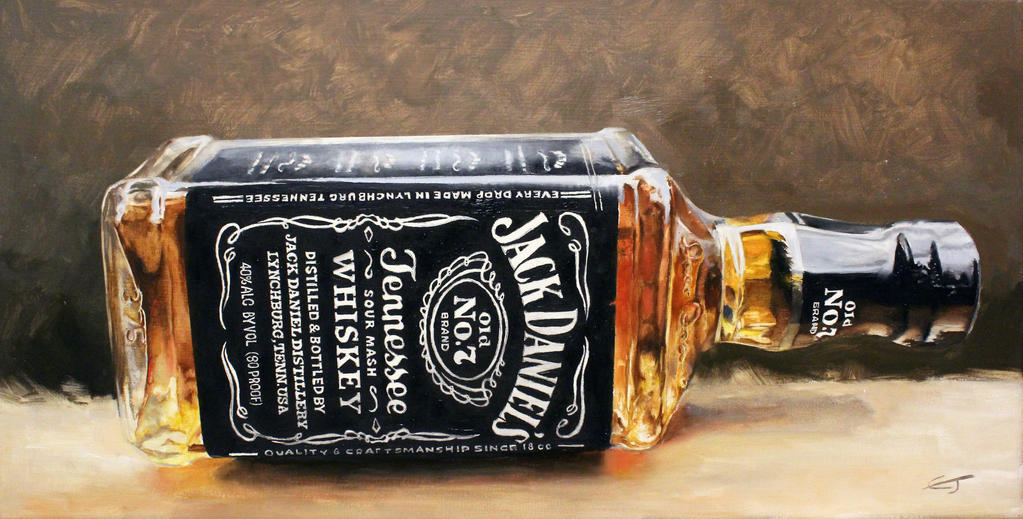 Jack Daniels oil painting on canvas by wildcory1