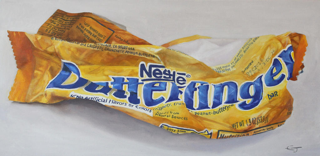 12 x 24 oil on canvas butterfinger by wildcory1
