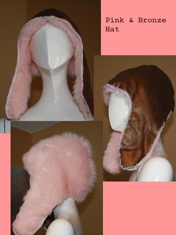 Pink and Bronze Hat by LemonHobbit