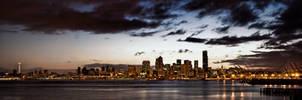 Seattle Skyline Alki HDR