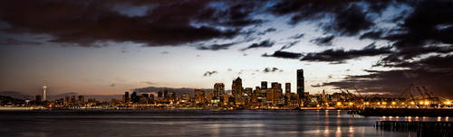 Seattle Skyline Alki HDR by UrbanRural-Photo