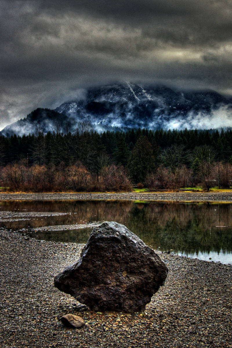 ...like a rock by the water... by UrbanRural-Photo