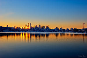 First Rays on Seattle by UrbanRural-Photo