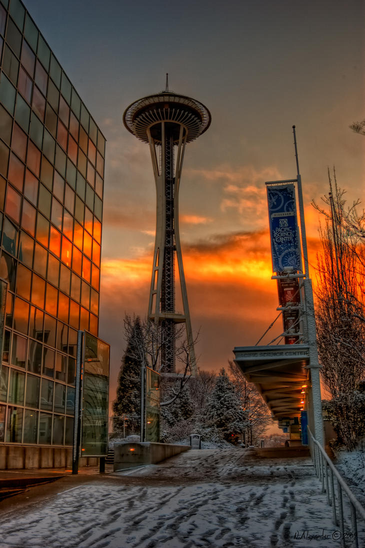 Glow on the Needle HDR by UrbanRural-Photo