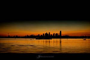 Dark Seattle Cityscape