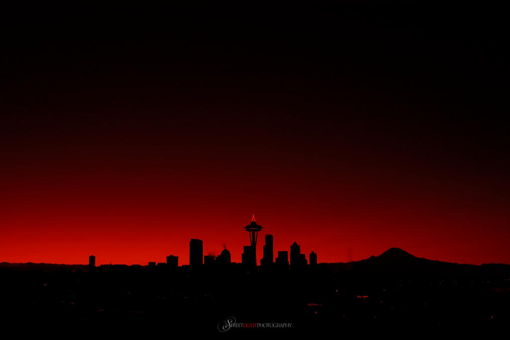 Red Seattle - Infrared by UrbanRural-Photo