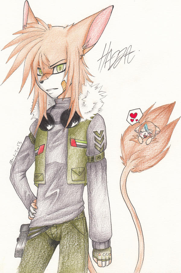 My OC - Hazza- by EvilPink95