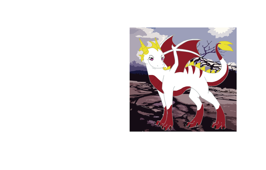 White + Red Dragon by MissHowling