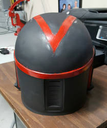 Custom Mandalorian Helmet(Back) by RexFan684